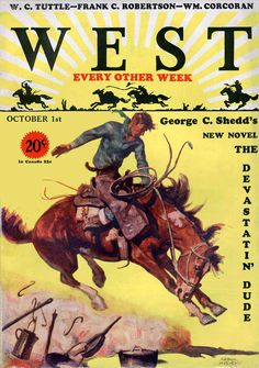 pulp western posters  | West 1930-10-01