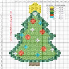 Dibujos Punto de Cruz Gratis: Christmas tree cross stitch pattern - Arbol navide...
