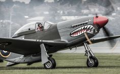 P-51 Mustang with British colors. #p-51 #mustang