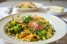 Camargue-Reis mit Gemüse und Lachsfilets - Madame Cuisine