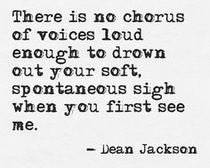 There is no chorus of voices loud enough...