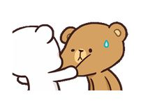 LINE Creators' Stickers - Milk & Mocha : Playful (Animated) Example with GIF Animation Cute Bear Drawings, Cute Animal Drawings Kawaii, Cute Cartoon Drawings, Kawaii Drawings, Cute Bunny Cartoon, Cute Couple Cartoon, Cute Cartoon Pictures, Cute Pictures, Cute Love Gif