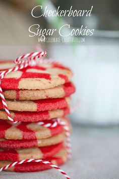 Checkerboard sugar cookies are easy to make.  Tackle them for your next cookie exchange.