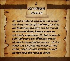 1 Corinthians 2:14-16