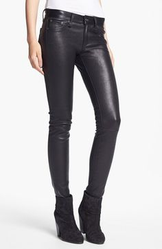 rag & bone 'The Leather Skinny' Pants | Nordstrom