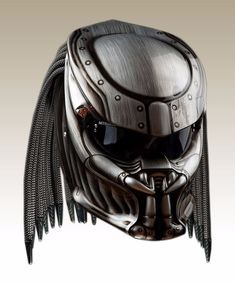 Great the silver color predator helmet motorcycle dot approved
