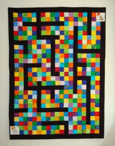 Maze Quilt! Could be model for marble maze...