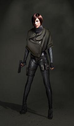 Female Agent, Jens Fiedler on ArtStation