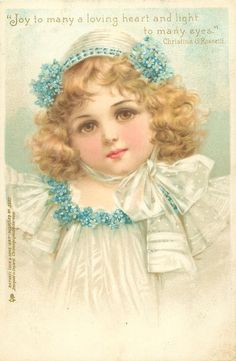 """Joy to many a loving heart and light to many eyes."" ~ 1902 Frances Brundage postcard"