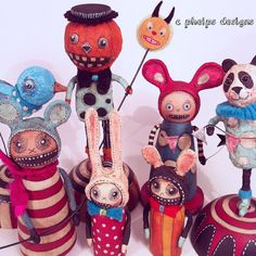 Spun Cotton Forest Creature by CphelpsDesigns on Etsy