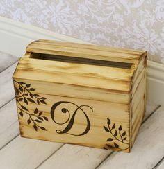 Personalized Card Box Rustic Wedding