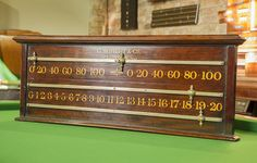 Antique snooker scoreboard by George Wright.