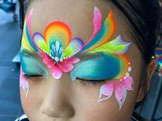 Face Painting Designs, Body Painting, Princess Face Painting, Butterfly Face Paint, Special Effects Makeup, Child Face, Eye Art, Kawaii, Painting For Kids