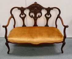 A Cool Foldable Pastry Stand, a French Settee and a HUGE Turkey Platter! Turkey Platter, Settee, Hand Carved, Love Seat, Carving, French, Cool Stuff, Gallery, Sofa