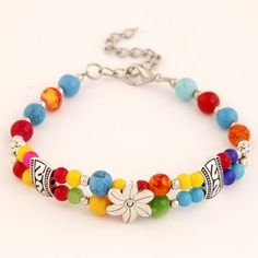 Flower Decorated Weaving Beads Design