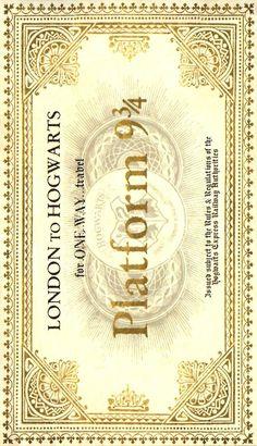 Ticket to Hogwarts On front door