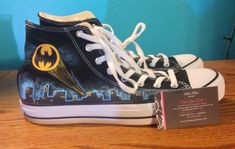 Custom Hand Painted Batman Converse NOTE: Personalized to any