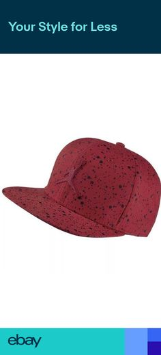 Nike Air Jordan Speckle Print Snapback Jumpman Baseball Cap Hat Red 821830 -687 68b7a8f98ecd