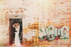 Brisbane Wedding Photography - I do love a bit of Graffiti - taken at the Brisbane Powerhouse
