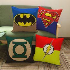 Creative cartoon Superman Batman film linen cushion Cushion cover sofa bed car home Dec printed brief covers wholesale Batman Film, Batman And Superman, Chair Cushion Covers, Pillow Covers, Sofa Throw Pillows, Cushions, Sofa Bed, Comic Book Rooms, Star Wars Nursery