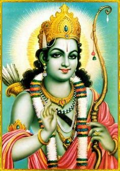 """Shree Ram ✨ HAPPY SHRI RAM NAVAMI ✨  Sukadeva Goswami said: """"O Maharaja Pariksit, best of the Bharata dynasty, during the reign of Lord Ramachandra the forests, the rivers, the hills and mountains, the states, the seven islands and the seven seas were all favorable in supplying the necessities of life for all living beings.""""~Srimad Bhagavatam 9.10.52"""