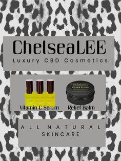 Luxury CBD Cosmetics Vitamin C Serum, Vitamin E, Reduce Inflammation, Pain Relief, Peppermint, The Balm, Skin Care, Cosmetics, Luxury