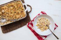 Cheesy Roasted Cauliflower & Bacon Baked Shells