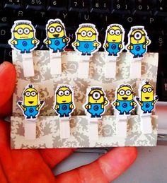 Minion Rush Mini Craft Pegs Minions Pack of 10 Party Bag Favour Peg  www.bizarrestuffs.com