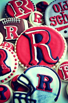 Rutgers Football cookies   www.facebook.com/tinykitchencakery
