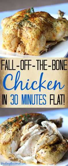 Love fork-tender chicken, but not all the time it takes to prepare? Our fall-off-the-bone pressure cooker chicken takes just 30 minutes!