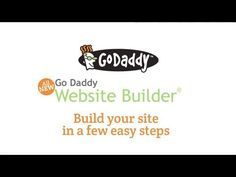 Build a Website in a Few Easy Steps with GoDaddy Website Builder.   Start building your website at http://godaddy.com/hosting/website-builder-new.aspx