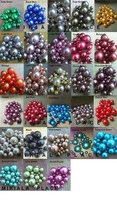 Decorative Pearls Mix Size -Over 30 Colors -For Floating Pearl Centerpieces, Vase Fillers, Special Events, Weddings Pearl Wedding Centerpieces, Pearl Centerpiece, Floating Candle Centerpieces, Diy Centerpieces, Wedding Decorations, Centerpiece Flowers, Hanging Candles, Balloon Garland, Balloon Decorations