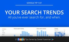 Google Tip 1/21: Personal Google Search Trends Dashboard