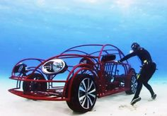VW Beetle Shark Cage That Can Drive Along the Ocean's Floor ;-)