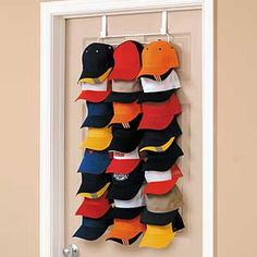 Over The Door Hat Rack Organize Your Baseball Hats With An Over The Door  Cap Organizer