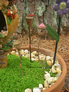 Outdoor+Fairy+Houses | Garden Fairy Bird Houses | Flickr - Photo Sharing!