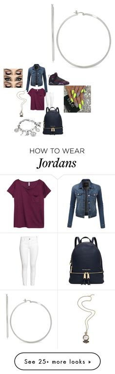 """""""Untitled #1721"""" by fashionicon67 on Polyvore featuring H&M, NIKE, LE3NO, MICHAEL Michael Kors and Anne Klein"""
