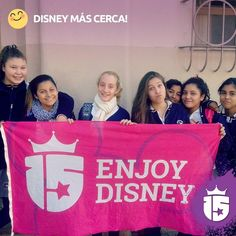 Nos recibieron las chicas del colegio Gianelli!Quién quiere #Disney? Se viene se viene con #Transatlántica #Enjoy15