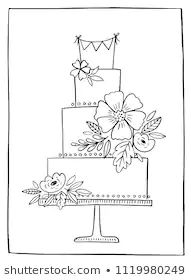 Find Wedding Cake Hand Drawn Vector Illustration stock images in HD and millions of other royalty-free stock photos, illustrations and vectors in the Shutterstock collection. Wedding Cake Images, Wedding Cakes, Wedding Cake Illustrations, Cake Drawing, Draw On Photos, Floral Cake, Iphone Wallpapers, Wedding Signs, Food Art