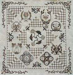 Vintage Tiles - Elegance In Neutrals shared on MyQuiltPlace.com by Dorothy Baker