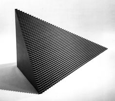 SOL LEWITT, FLATBACK PYRAMID, MAQUETTE FOR CONCRETE BLOCK STRUCTURE, 1996
