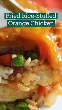 Fried Rice-Stuffed Orange Chicken