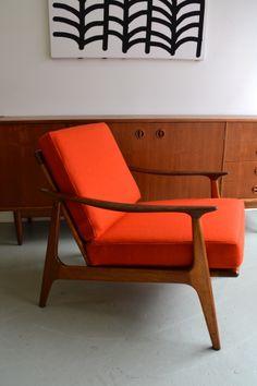 Australian Parker armchair, refurbished by tangerine  teal