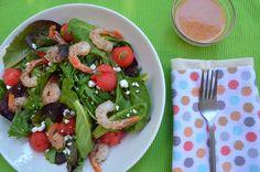 Summer Shrimp Salad with Watermelon Champagne Vinaigrette - Powered by @ultimaterecipe