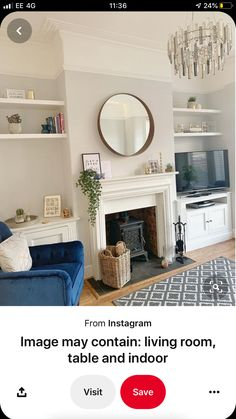 Fireplace Gallery, Grey Fireplace, Home Fireplace, Living Room With Fireplace, New Living Room, Home And Living, Living Room Decor, Fireplace Ideas, Elegant Living Room