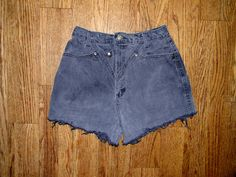 Vintage Denim Cut Offs - Vintage 80s/90s Gray Jean Shorts - High Waisted Cut Off/Frayed Short Shorts - 10 Dollar Sale - Modern Size 7/8. $10.00, via Etsy.