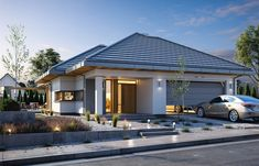 Willa Parkowa 6 on Behance House Layout Plans, My House Plans, Small House Plans, House Layouts, Home Building Design, Home Design Plans, Building A House, Modern House Facades, Modern House Design