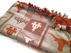 I really like that this blanket is not so bright and has some neutrals instead of solid burnt orange.