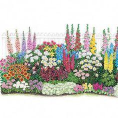 four season garden plan - full sun zones 4-8 | landscape ...