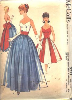 McCall's 5771 Gown or Dress and Sash with Double by PatternCenter, $35.00